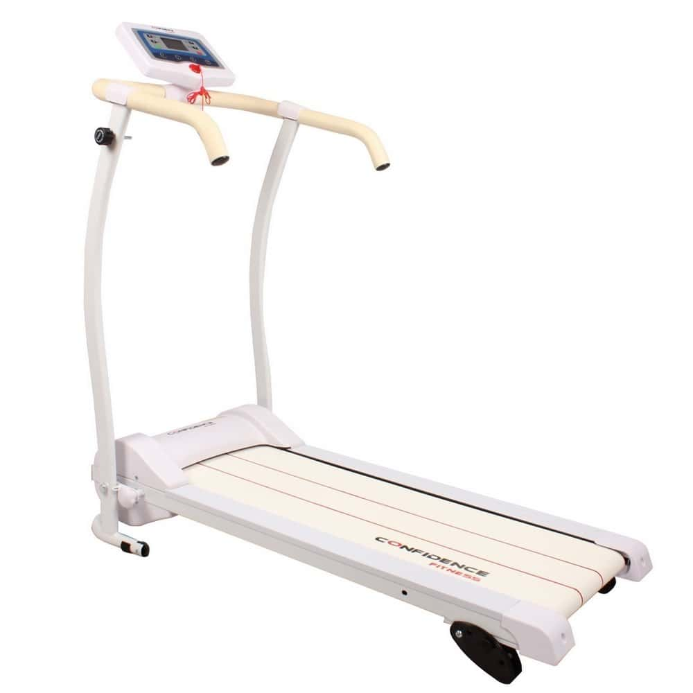Power Track Motorized Treadmill White