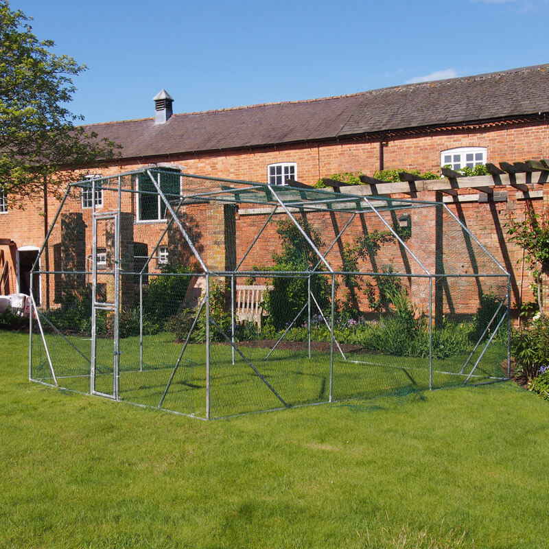 4m x 3m Walk In Chicken Pen Hen Run Outdoor Exercise Cage Free Roof