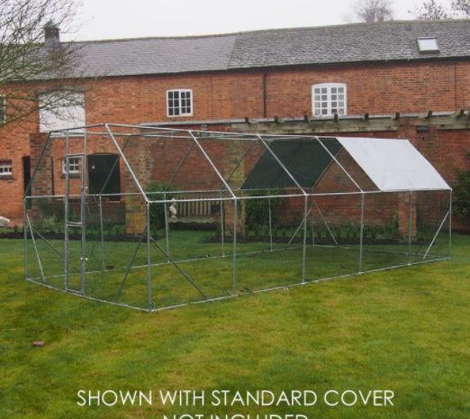 6M x 3M Walk Chicken Pen Run Outdoor Exercise Cage Free Roof