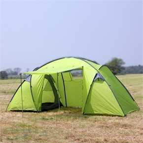 North Gear 6 Man Waterproof Tent Green
