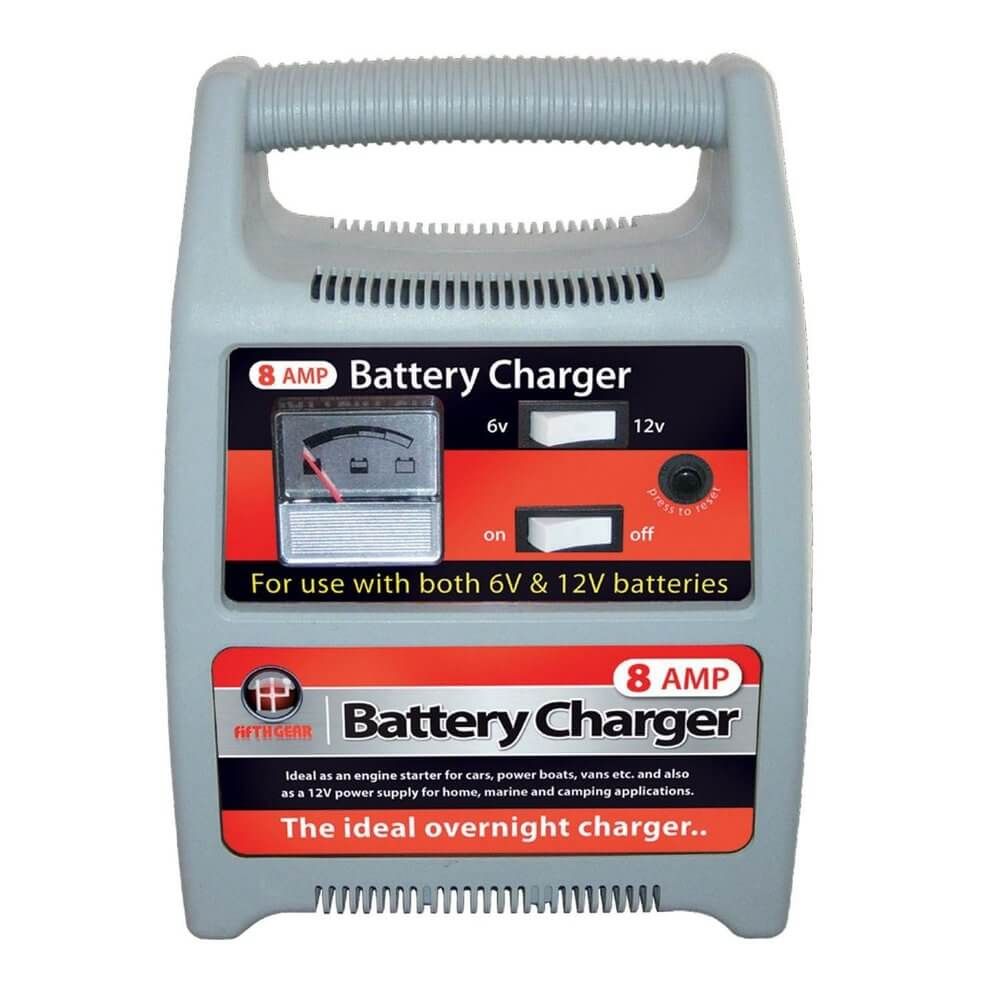 12v & 6v Switchable 8 Amp Battery Charger For Cars, Vans & Motorcyles