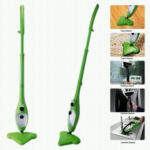 5 in 1 Xtream Steamer Multi Floor Carpet Green With Accessories Cleaner Mop