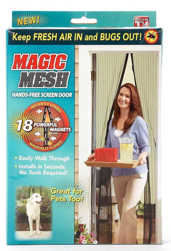 Magic Mesh Bug Screen Instant Door w/ Magnets