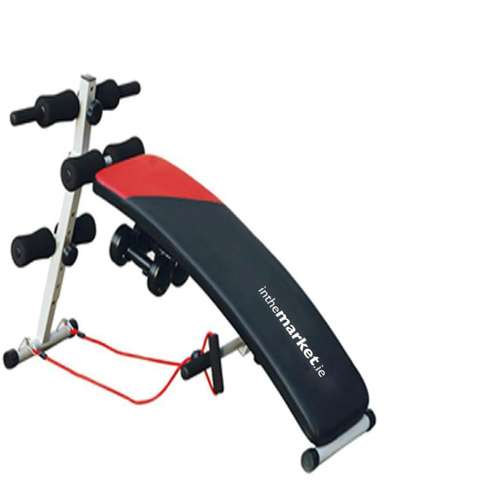 ITM Sit Up Bench  Pro With Weights & Ropes