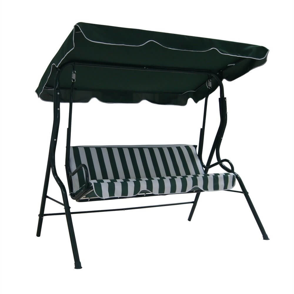 Garden 3 Seater Swinging Chair W/ Canopy
