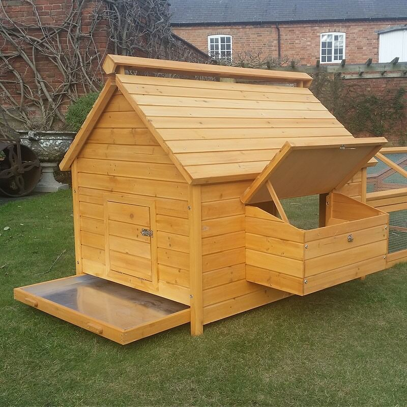 12 Bird Large Chicken Coop With Optional Run