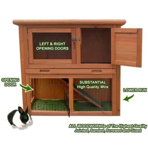 Rabbit Guinea Pig Hutch House