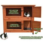 Double Rabbit Guinea Pig Hutch House