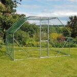 2m x 3m Walk In Pet Pen Hen Run Outdoor Exercise Cage Free Roof