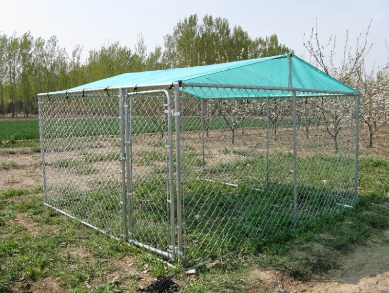10 x 7FT Walk In Dog Kennel Pen Run Outdoor Exercise Cage Free Roof