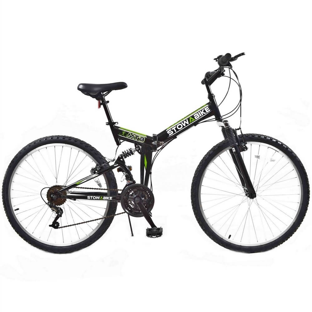 MTB Folding Dual Suspension 18 Speed Gears Mountain Bike