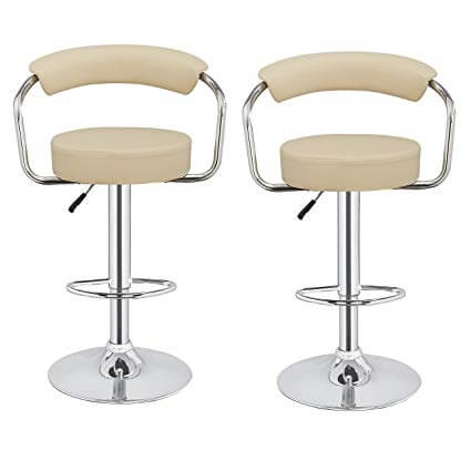 2 x Kitchen M1 Adjustable Stools Cream
