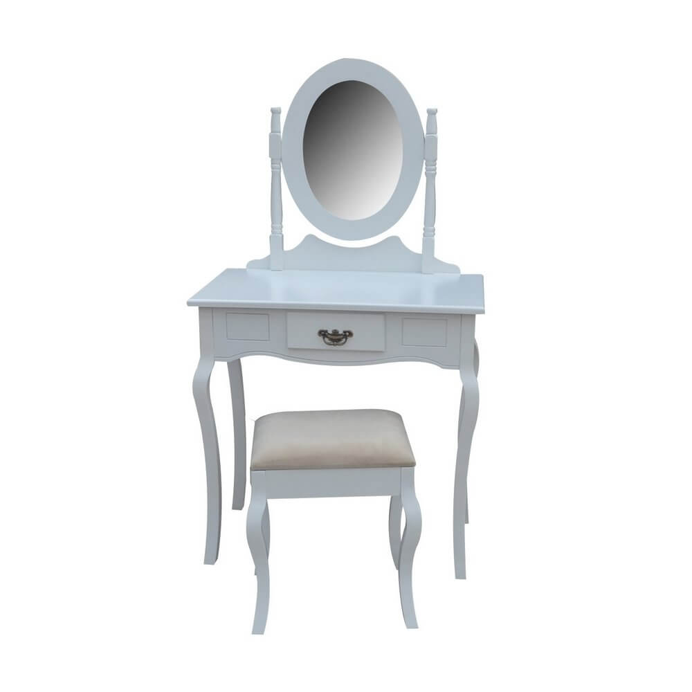 Milan Dressing Table & Stool Set