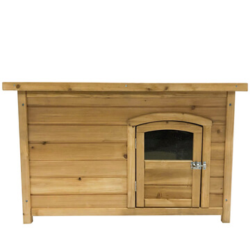 XL Wooden Dog Kennel With Perspex Window